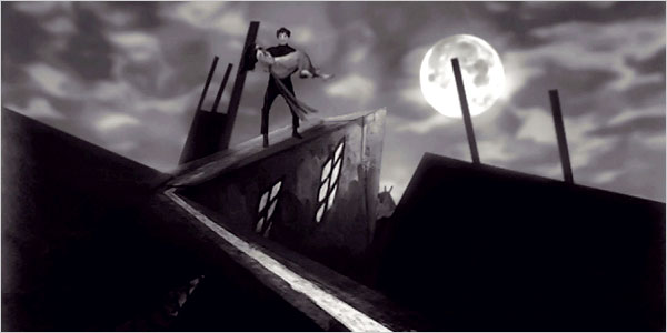 SHH! CABINET OF DR.CALIGARI (1920) with LIVE JAZZ BAND AD LIBITUM!
